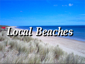 Choice of spectacular local beachs at your doorstep in sunny south east